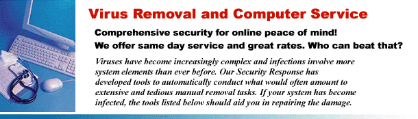 virus removers and backdoor trojan freeware removers